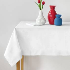 Bavlnený obrus biely Gramáž: 150 g/m2, Rozmer: 120 x 160 cm