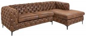 Barock rohová sedačka hnedá