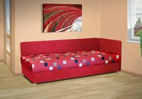Čalouněná válenda s úložným prostorem Mirka Barva potahu: červená 54031-1018, nosnost: zvýšená nosnost 120 kg