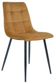 Dizajnová stolička Dominik horčicová