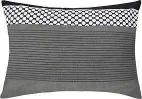 XPOSE® Flanelová obliečka na vankúš VLADIMÍRA - čierna/sivá 50x70 cm
