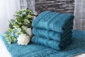 XPOSE ® Bambusový ručník CATANIA - petrolejová 50x90 cm