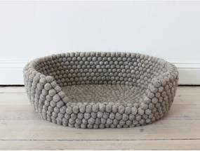 Pieskovohnedý guľôčkový vlnený pelech pre domáce zvieratá Wooldot Ball Pet Basket, 60 x 40 cm