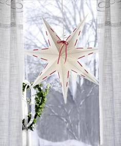 STAR TRADING Závesná svietiaca hviezda Vira White 60 cm