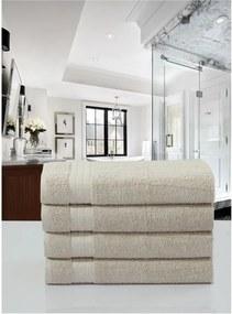 Sada 4 béžových bavlnených uterákov Muller Textiels, 50 × 100 cm