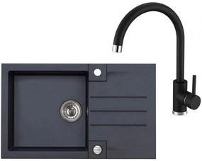 ALVEUS Set ROCK 130 drez 780x480 mm + batéria TONIA, čierna