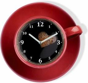 DomTextilu Kuchynské hodiny v tvare šálky kávy 8103-22192