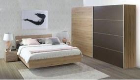 IDA spálňová zostava Posteľ 160 s roštom+Skriňa 215cm+2x nočný stolík