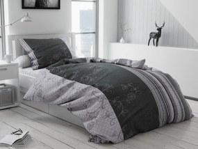 Krepové obliečky Bezkvet sivý Rozmer obliečok: 70 x 90 cm, 140 x 220 cm