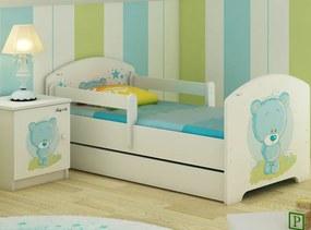 MAXMAX Detská posteľ MODRÝ MACKO 160x80 cm