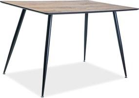 SIGNAL Remus jedálenský stôl orech / čierna matná
