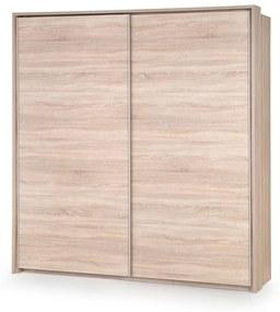 HALMAR Lima S1 šatníková skriňa s posuvnými dverami dub sonoma