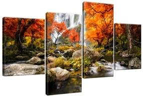 Obraz na plátne Jesenný vodopád 120x70cm S-2335A_4AA(P)