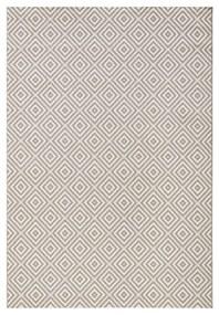 Sivý koberec vhodný aj do e×teriéru Karo, 140 × 200 cm
