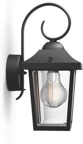 Philips 17236/30/PN Buzzard nástenné svietidlo čierne 1x E27 IP44