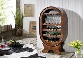 Bighome - CAMBRIDGE Regál na víno 120x67 cm, akácia