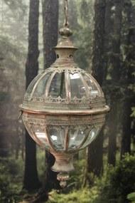 Medený závesný lampáš na retiazke 100cm