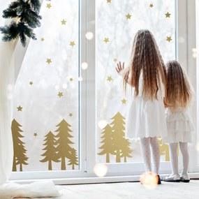 lovel.sk Nálepky na stenu Christmas - stromčeky a hviezdičky SW020
