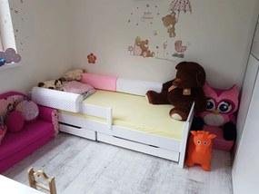 LU Detská biela posteľ Mix 180x80