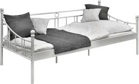 Tutumi Kovová posteľ 90 × 200 cm biela