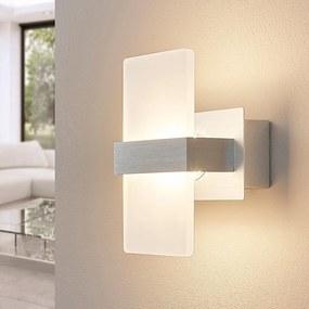 Nástenné LED svietidlo Yorick biela plastová clona