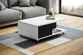 MAT-VIENNA konferenčný stolík na kolieskach, čiernobiely