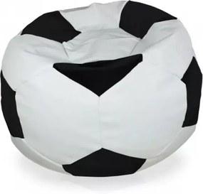 Sedací vak Futbal čierny - XL