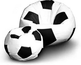 e389c5daad193 FITMANIA Sedací vak Futbalová LOPTA XXL Vzor: 01 bílo-černá
