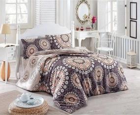 Pléd cez posteľ na dvojlôžko s obliečkami na vankúše Libra, 200 x 220 cm