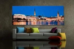 Obraz Hamburg Binnenalster 45x100cm sklo
