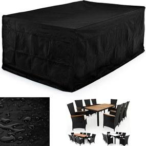 Jurhan & Co.KG Germany Ochranný obal pre záhradnú sedaciu zostavu 308 x 138 x 98 čierny
