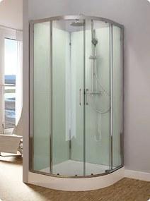 Sprchový box čtvrtkruhový SANSWISS MODUL 1400, 90x90x202 cm, s termostatickou baterií a ruční sprchou