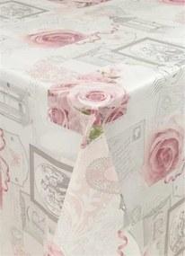 Obrus PVC ruže, metráž, šírka 140 cm, IMPOL TRADE