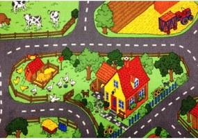 Vopi koberce Metrážový koberec Farma II. - Rozměr na míru s obšitím cm