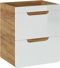 Hector Umyvadlová skříňka ARUBA 50 cm dub zlatý/bílá