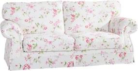 Ružovo-biela kvetovaná trojmiestna pohovka Max Winzer Mina