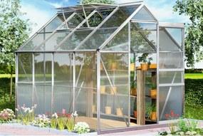 Záhradný skleník - 250 x 190 x 195 - objem 7,6 m³ + základňa