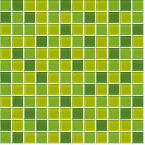 Sklenená mozaika Premium Mosaic zelená 30x30 cm lesk MOS25MIX4