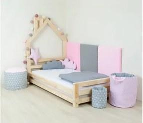 WALLY detská posteľ 70x160 cm prírodná nelakovaná