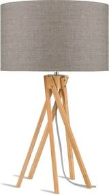 Stolová lampa s béžovým tienidlom a konštrukciou z bambusu Good&Mojo Kilimanjaro