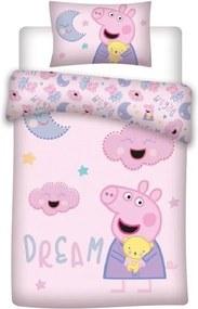 DETEXPOL Obliečky do postieľky Peppa Pig dream Bavlna, 100/135, 40/60 cm