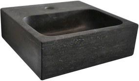 Blok 2401-29 kamenné umývadlo 30x30x10 cm, čierny Antracit