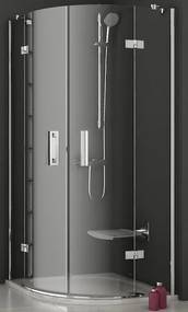Sprchový kút štvrťkruh 90x90x190 cm Ravak Smartline chróm lesklý 3S277A00Y1