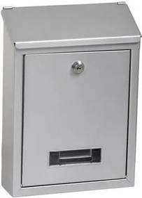 Poštová schránka RICHTER BK70 (BIELA, STRIEBORNÁ, HNEDÁ) - Oceľ strieborná