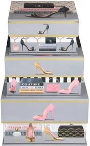 Sada 3 úložných magnetických boxov Tri-Coastal Design Shoes