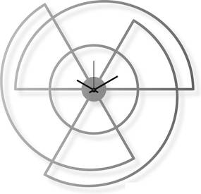 Veľké nástenné hodiny nerezové, 61x63 cm: Radio | atelierDSGN