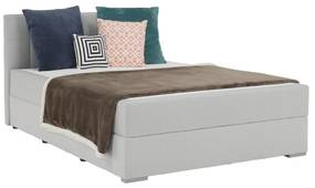 Boxspringová posteľ 140x200, svetlosivá, FERATA KOMFORT