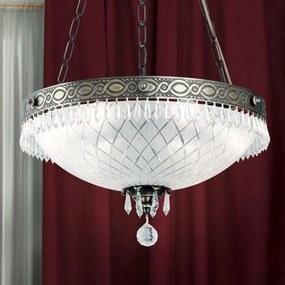 Závesná lampa Empire Crystal starožitná patina