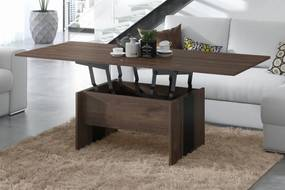SOLO hnedý dub / čierna, rozkladací, zdvíhací, konferenčný stolík