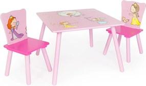 Detský stôl s stoličkami - princezné